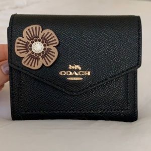 Coach Wallet with Flower Embellishment